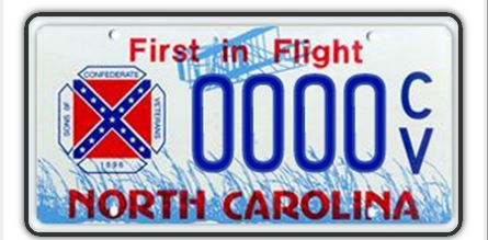 CONFEDERATE LICENSE PLATE 2_19524