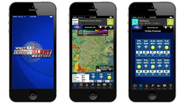 Download WNCT 9 On Your Side's free mobile apps