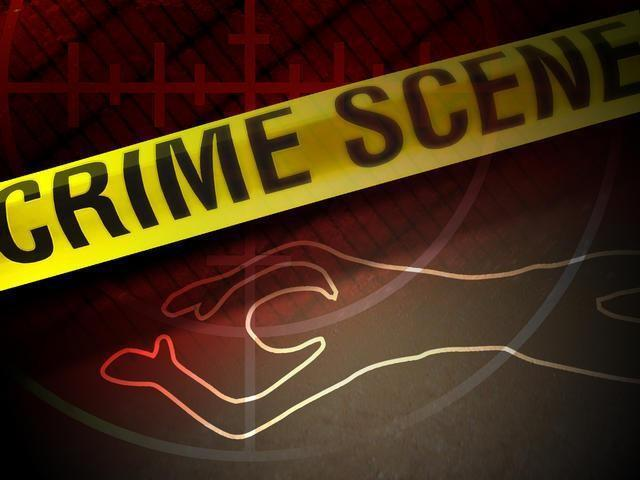 9OYS - Crime - Crime Scene Tape With Chalk Outline_211572