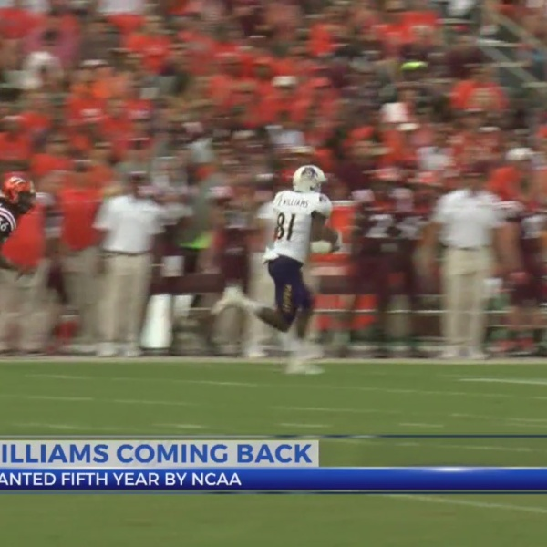 ECU's Jimmy Williams granted 5th year of eligibility