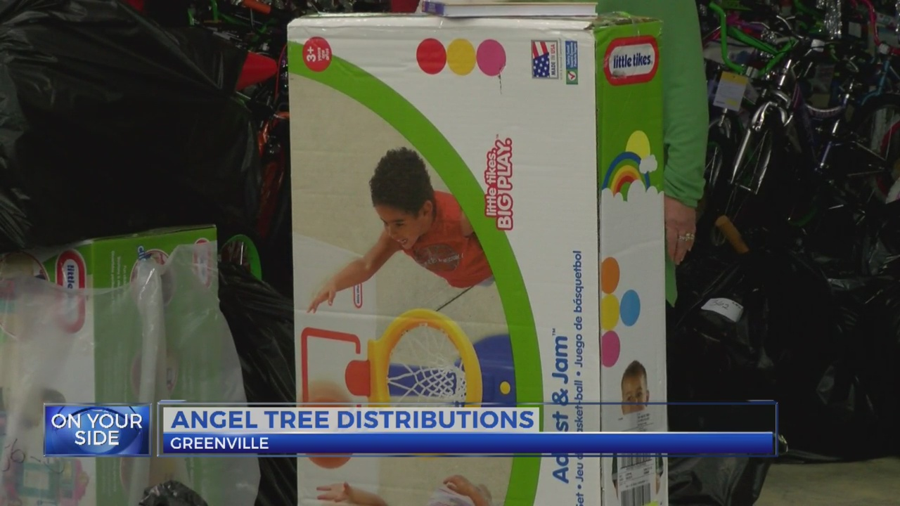Salvation Army distributes Angel Tree donations in Greenville