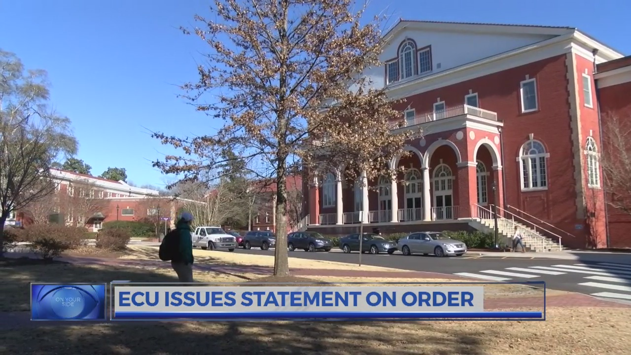 ECU chancellor advises foreign nationals at university against leaving U.S. due to exec order