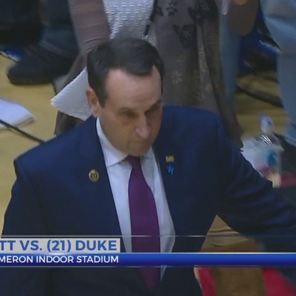 Coach K gets win in first game back