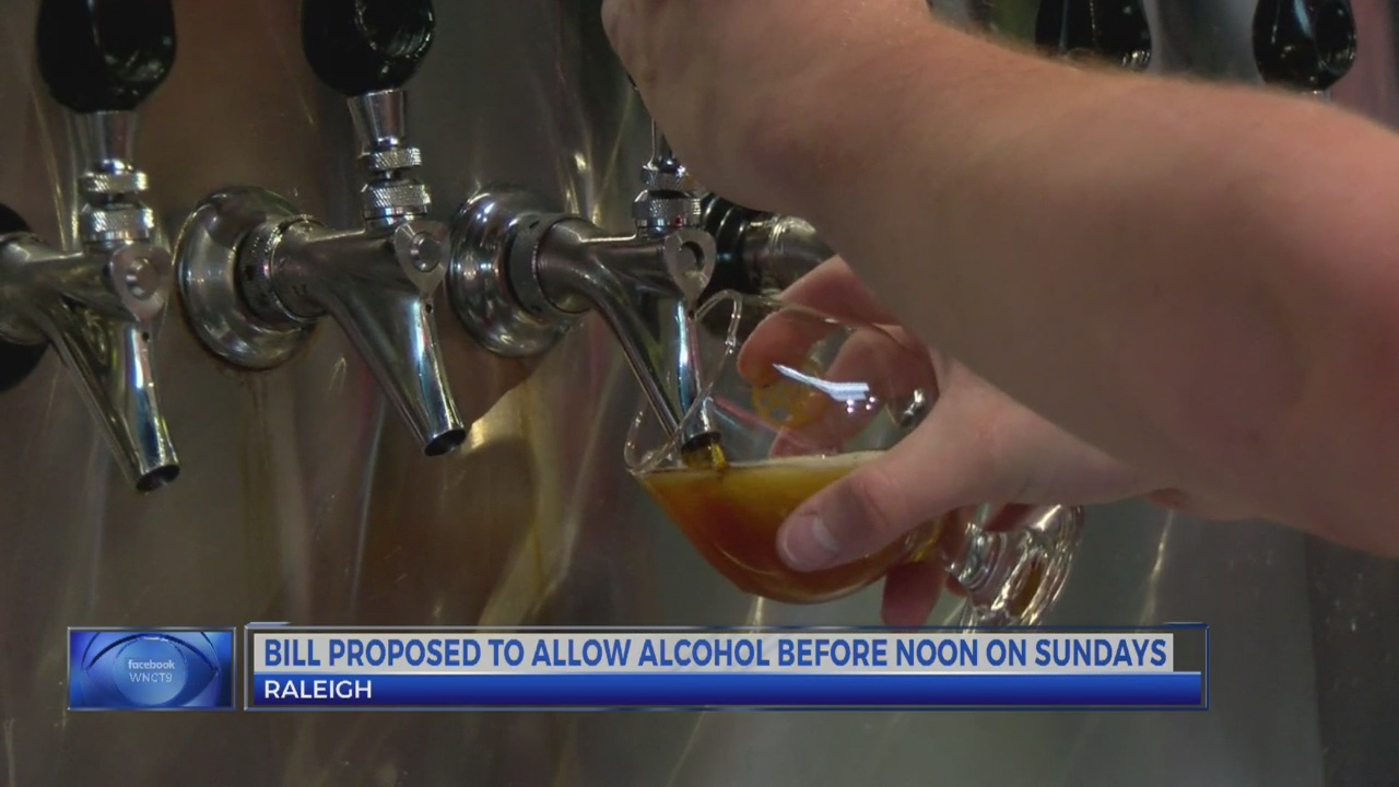 NC lawmakers introduce 'brunch bill,' would allow alcohol sales before noon Sunday