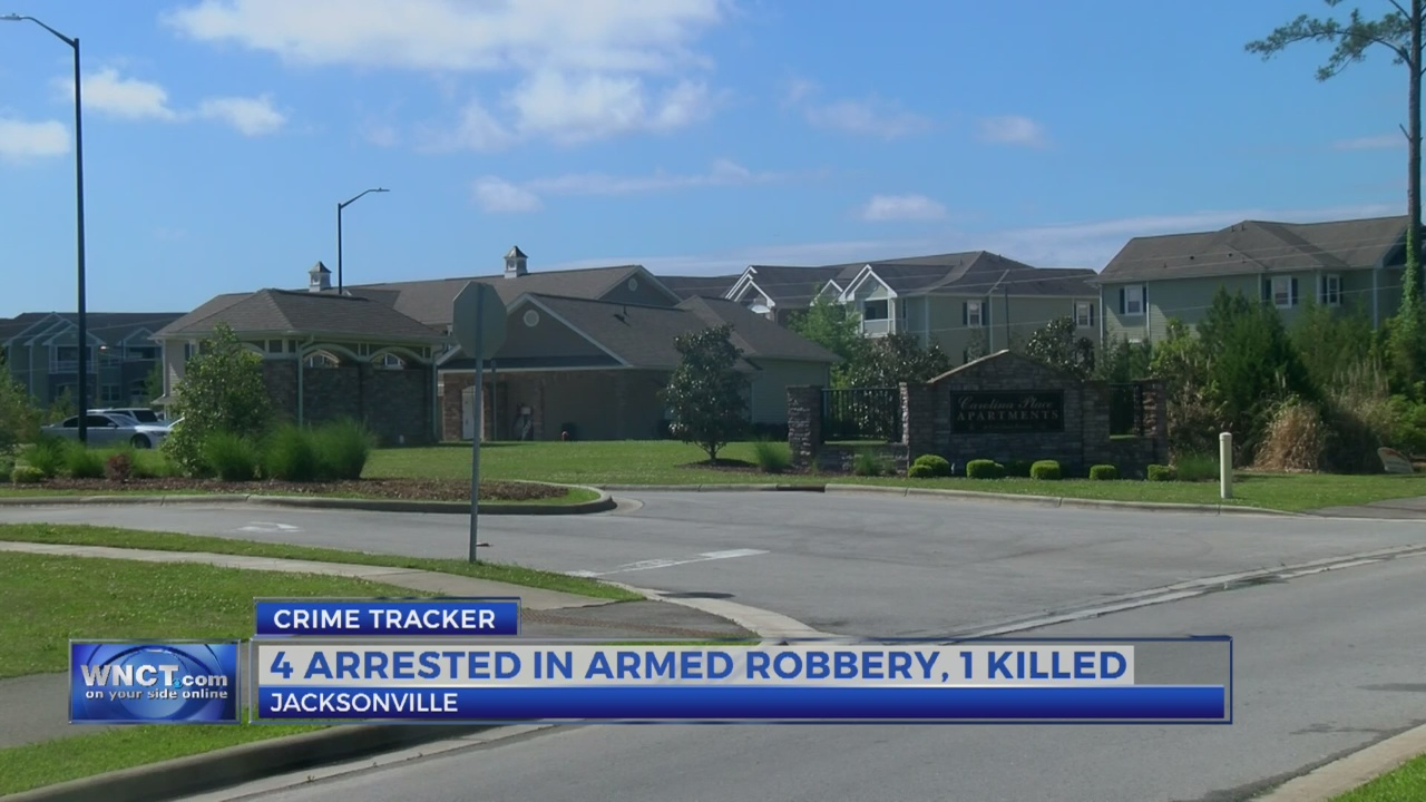Jacksonville man shot to death, four arrested in armed robbery