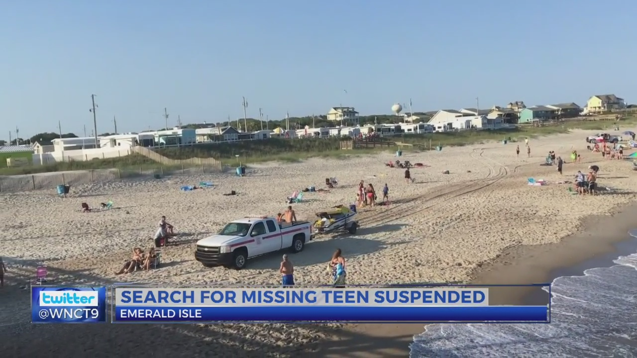 Update: Search suspended for teen who went missing while swimming in Emerald Isle