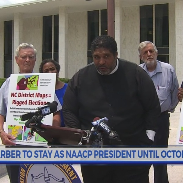 North Carolina NAACP leader says he'll stay for rest of term