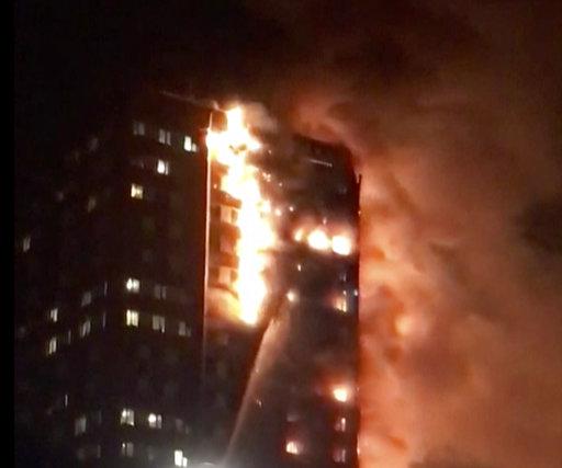 Britain London Fire_420663