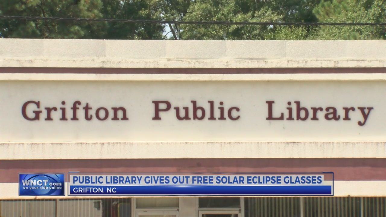 Grifton public library gives out free solar eclipse glasses