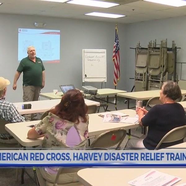Red Cross trains volunteers to help in emergencies such as Hurricane Harvey
