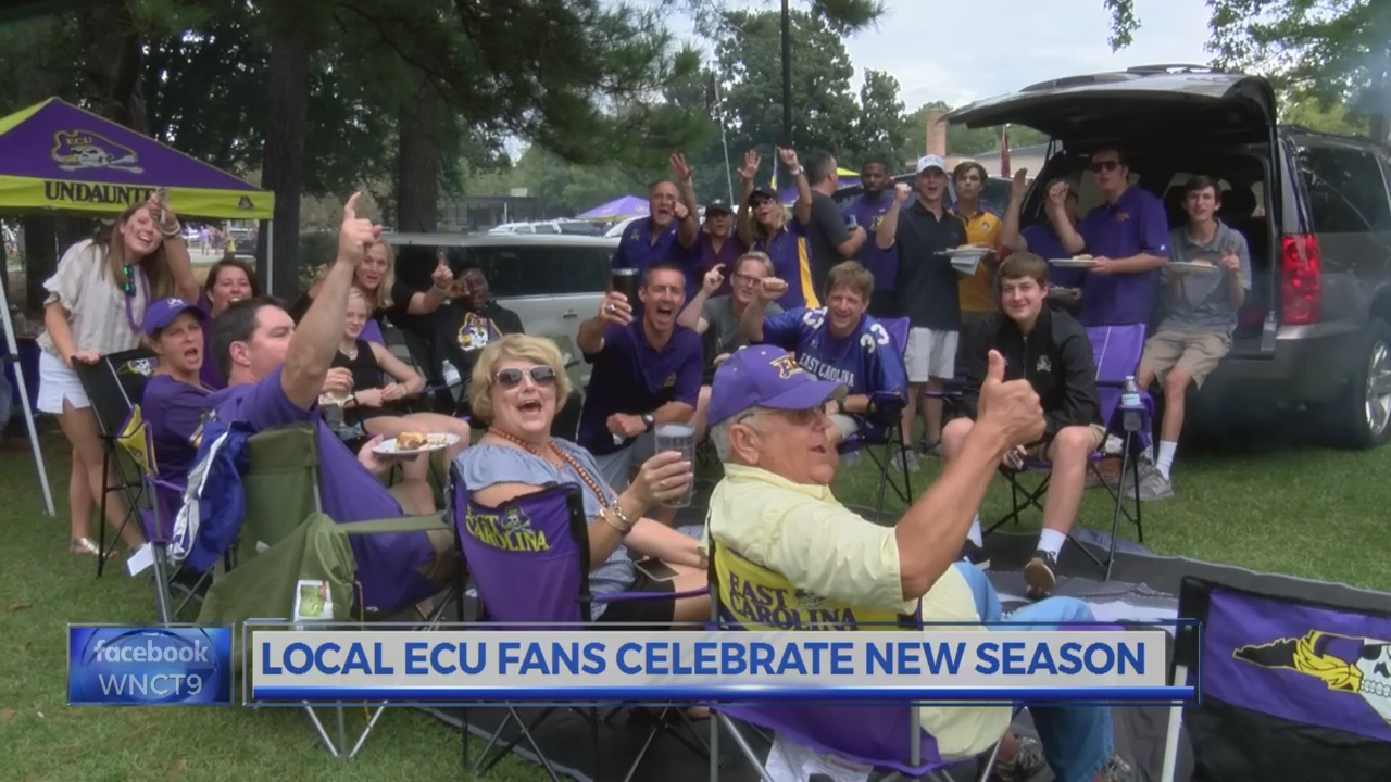 Pirates brave rainy conditions for the first home ECU football game and tailgate