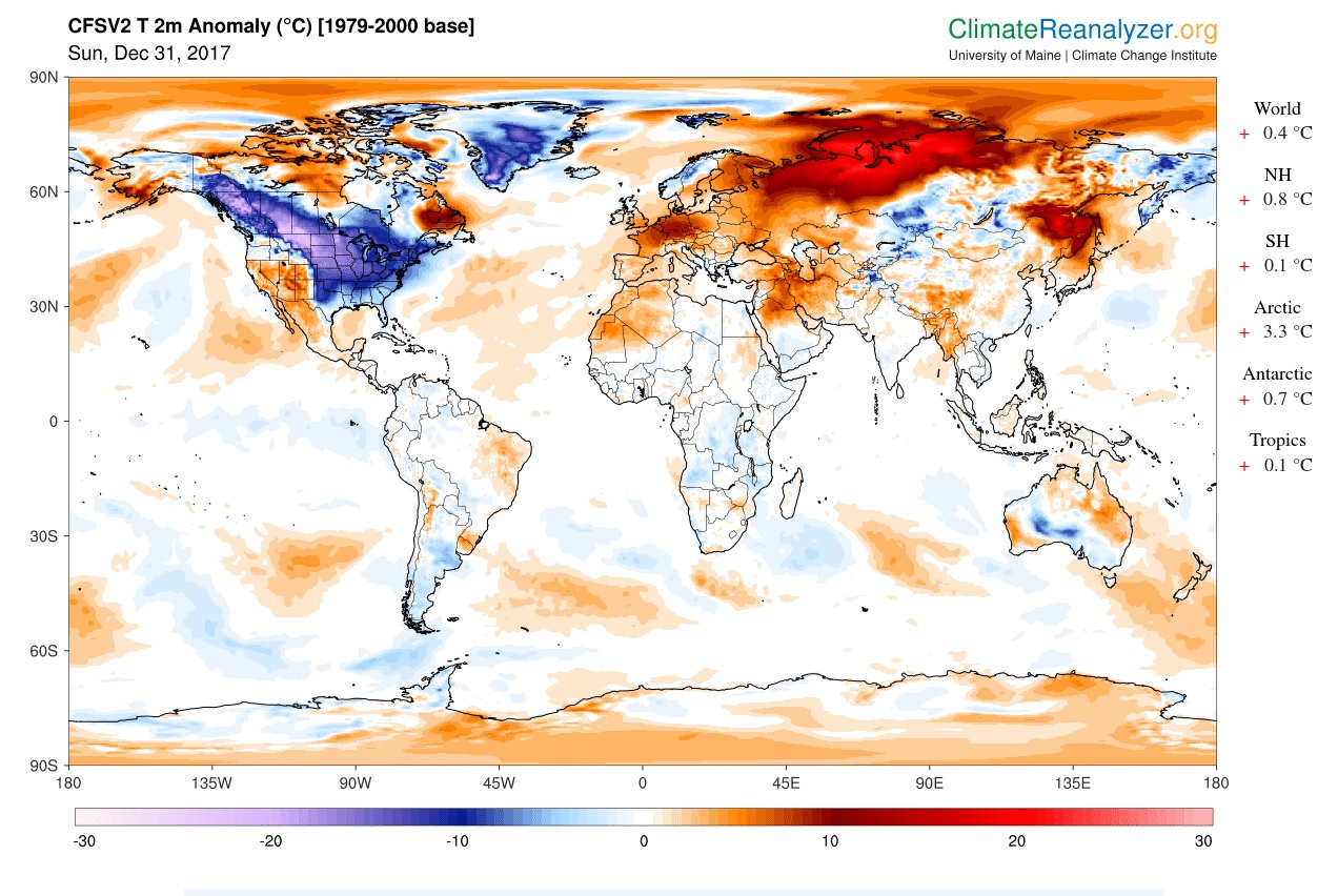 Climate change continues despite record cold snap