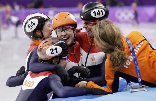 CORRECTION Pyeongchang Olympics Short Track Speed Skating Women_568890