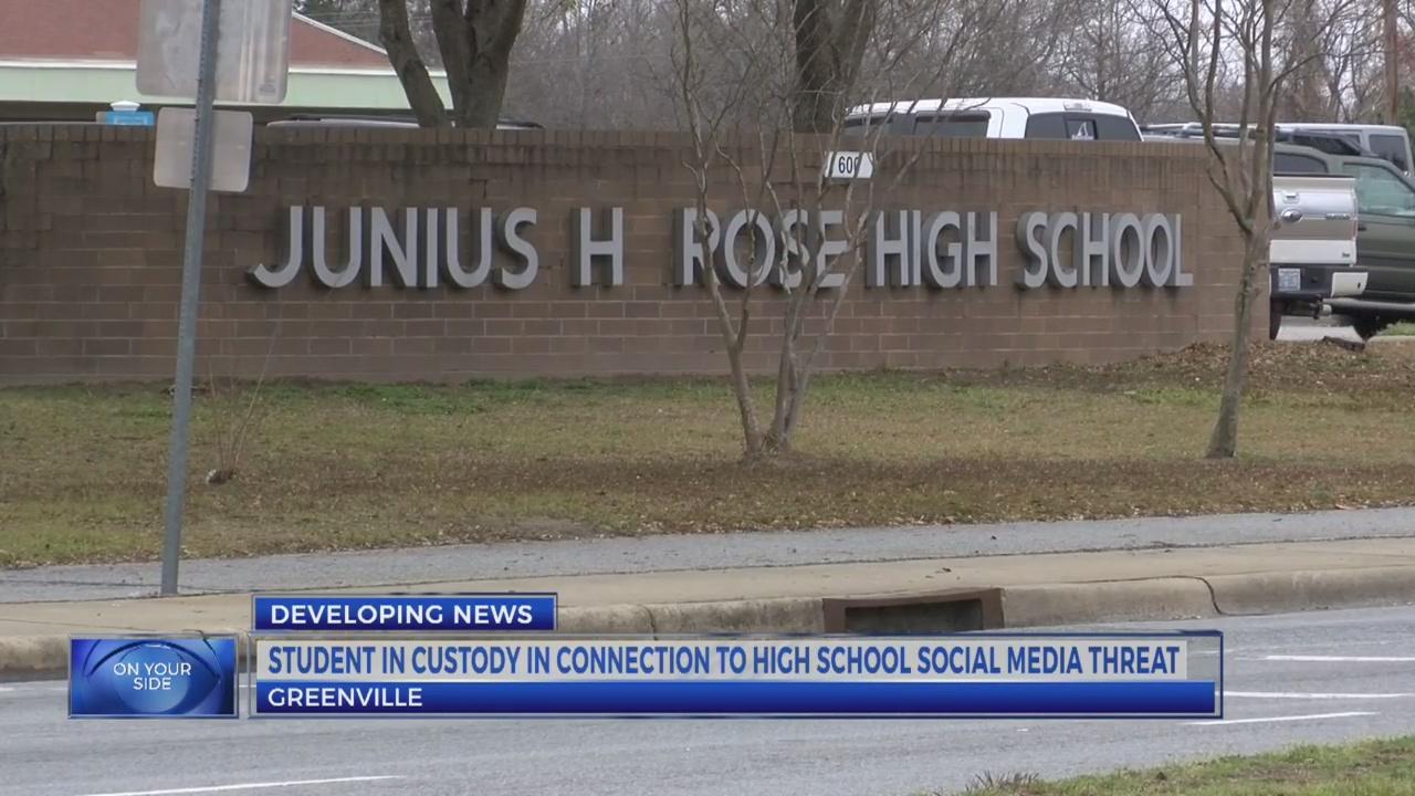 Student in custody following social media threat at J.H. Rose High School