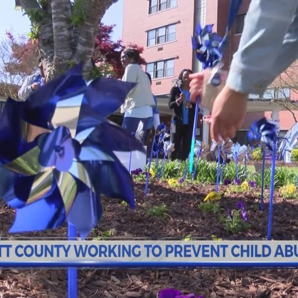 Pitt County Social Services wears blue to fight against child abuse