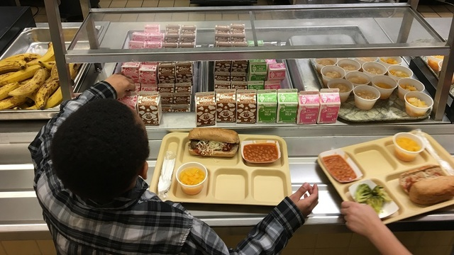 Student Gets School Lunch