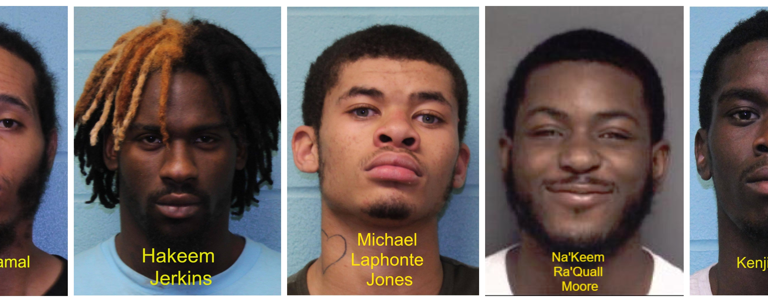 Five men arrested in drug bust in Kinston