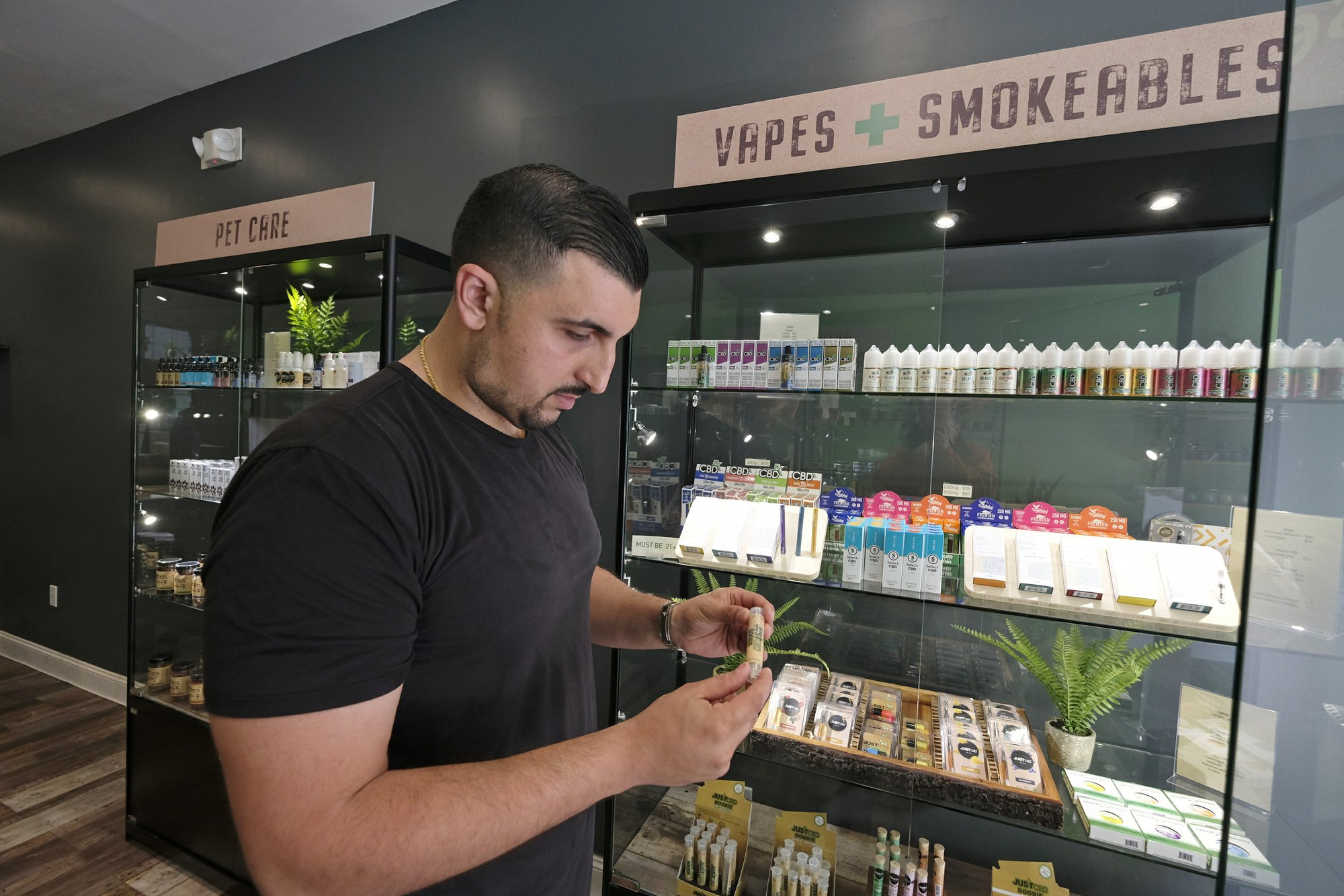 CBD Products On Shelf