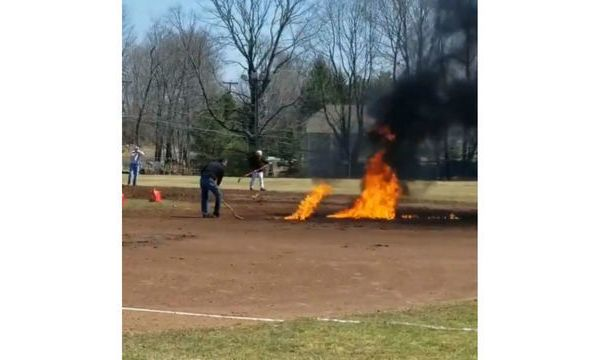 CON Baseball Field Fire
