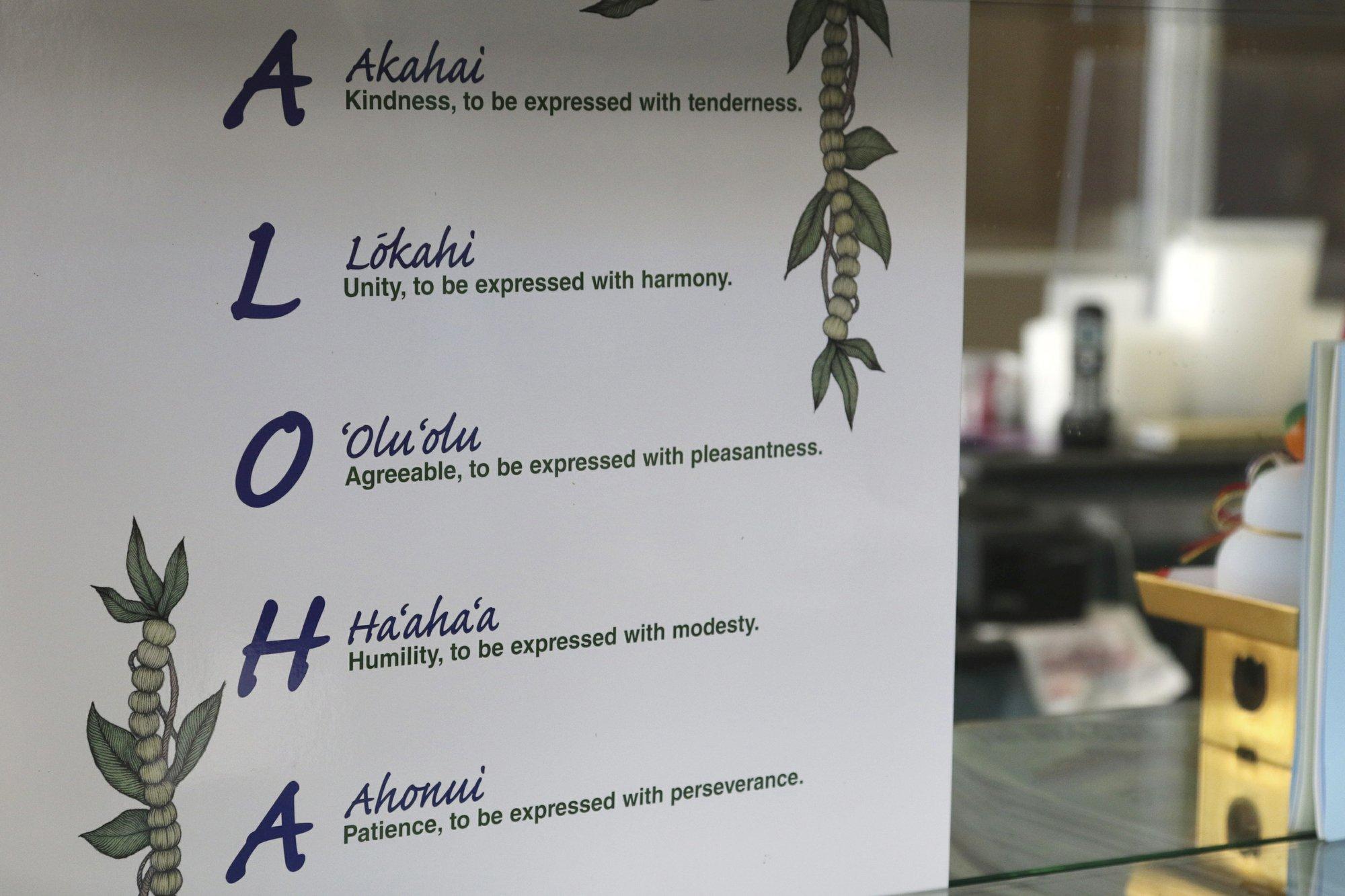 Hawaii Aloha Sign