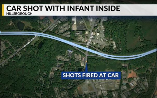 Hillsborough Car Shot With Baby Inside