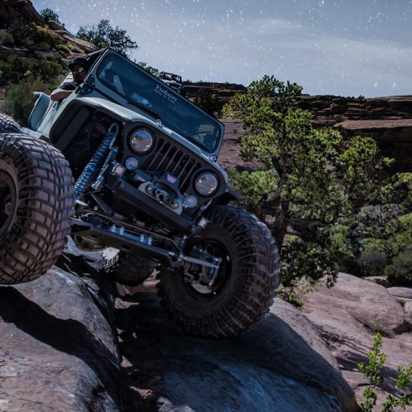 Jeep On Rocks