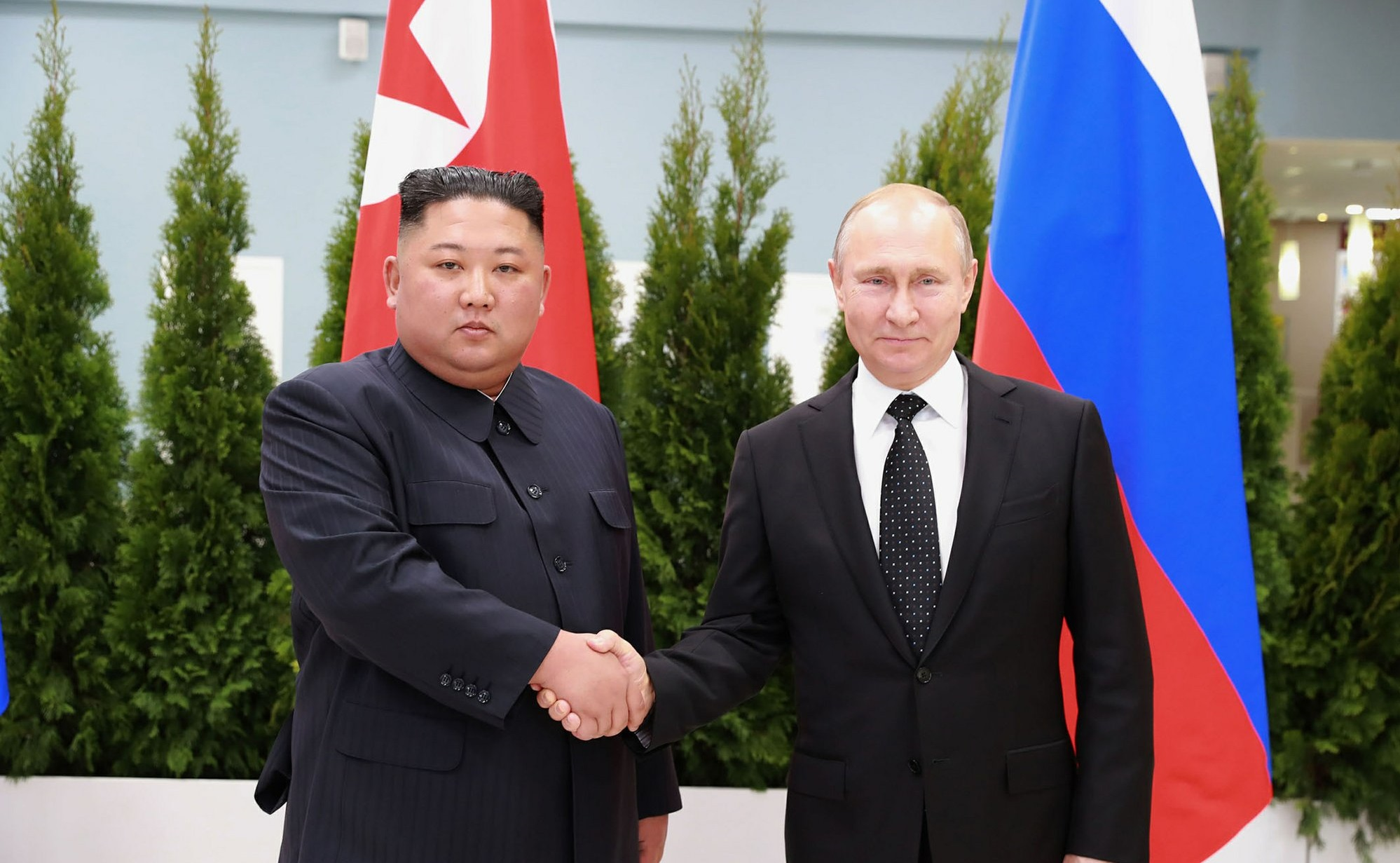 Kim Jong Un With Vladimir Putin 1