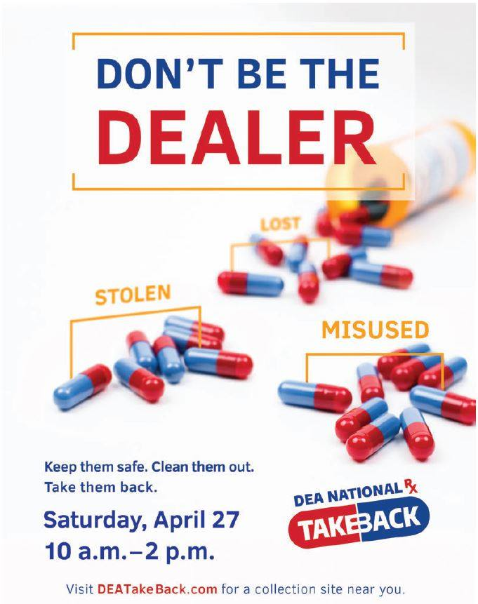New Bern 2019 Drug Take Back Poster