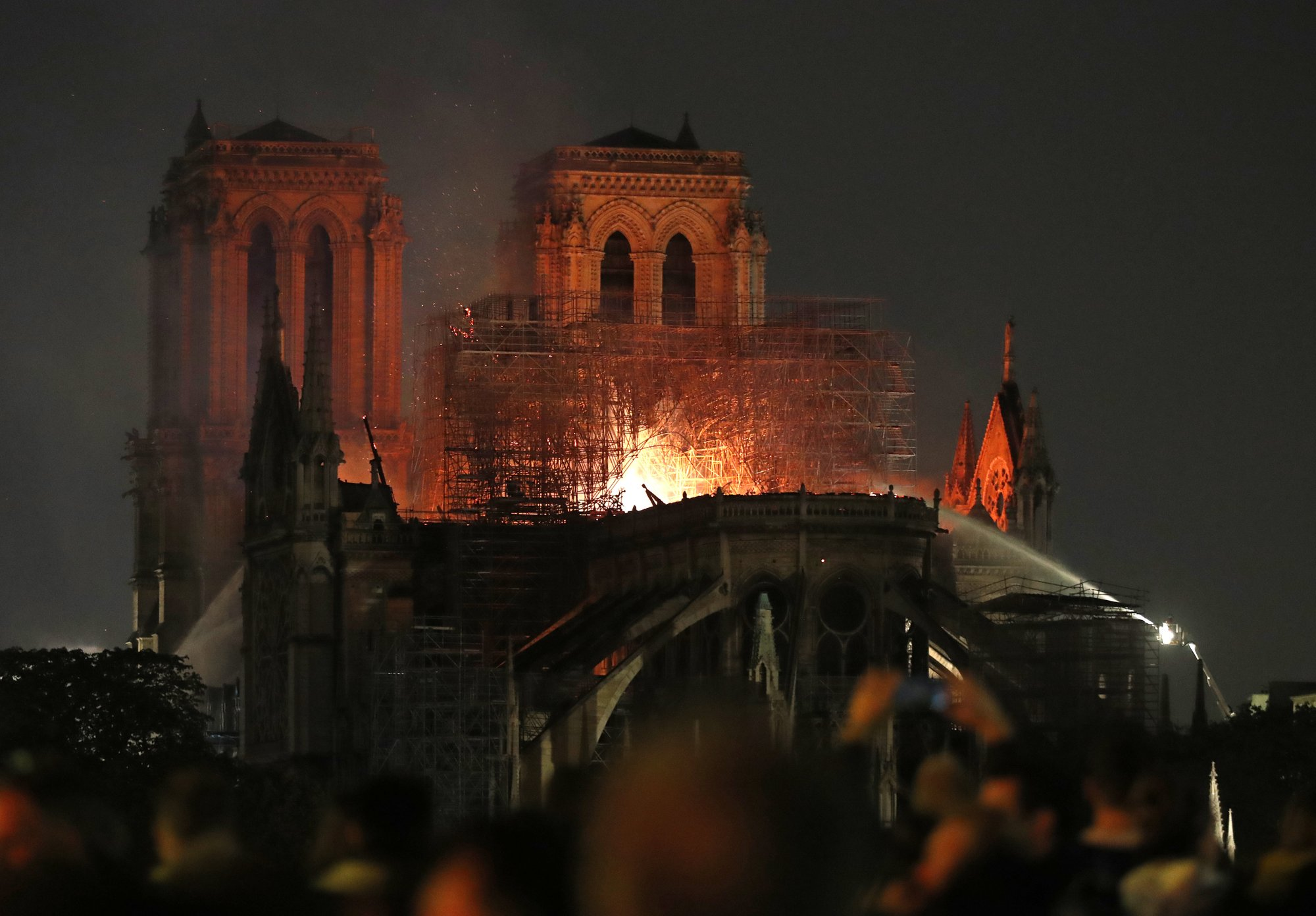 Notre Dame Fire At Night