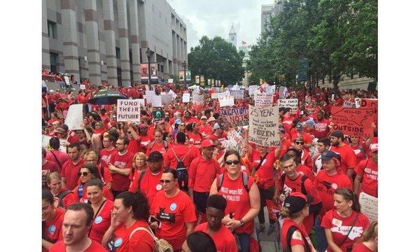 Raleigh Teachers Rally 1