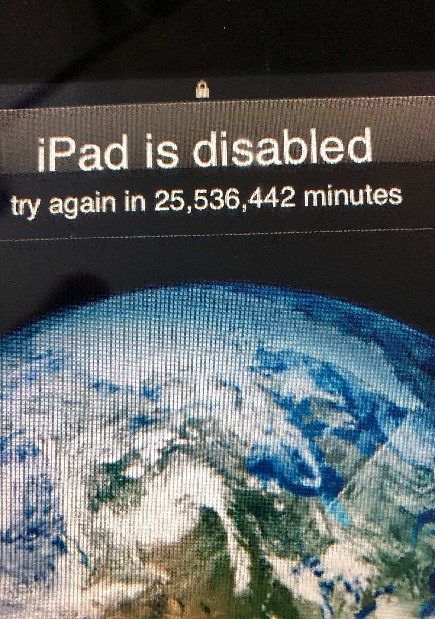 Toddler Locks iPad Until 2067