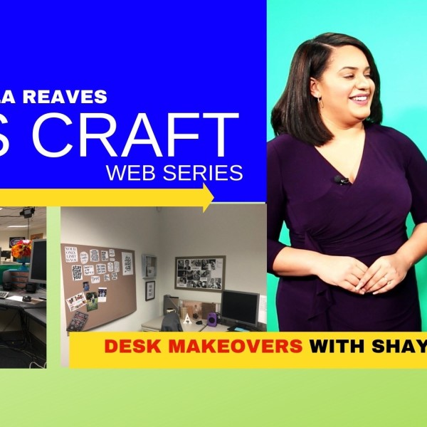 LET'S CRAFT: DIY office desk makeover