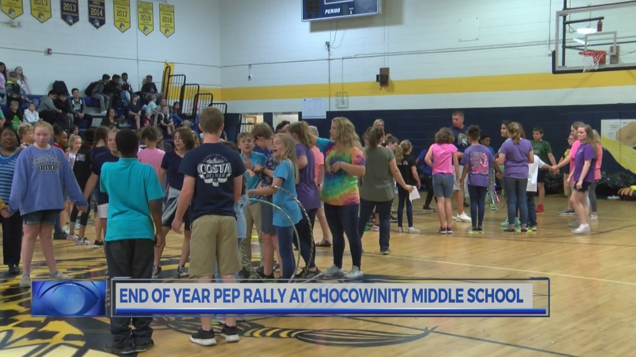 Chocowinity Middle School holds pep rally to get students pumped for end of year testing