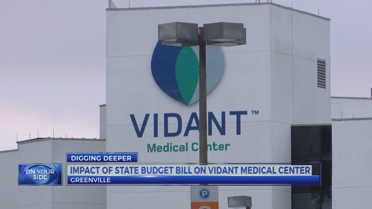Impact of State budget bill on Vidant Medical Center