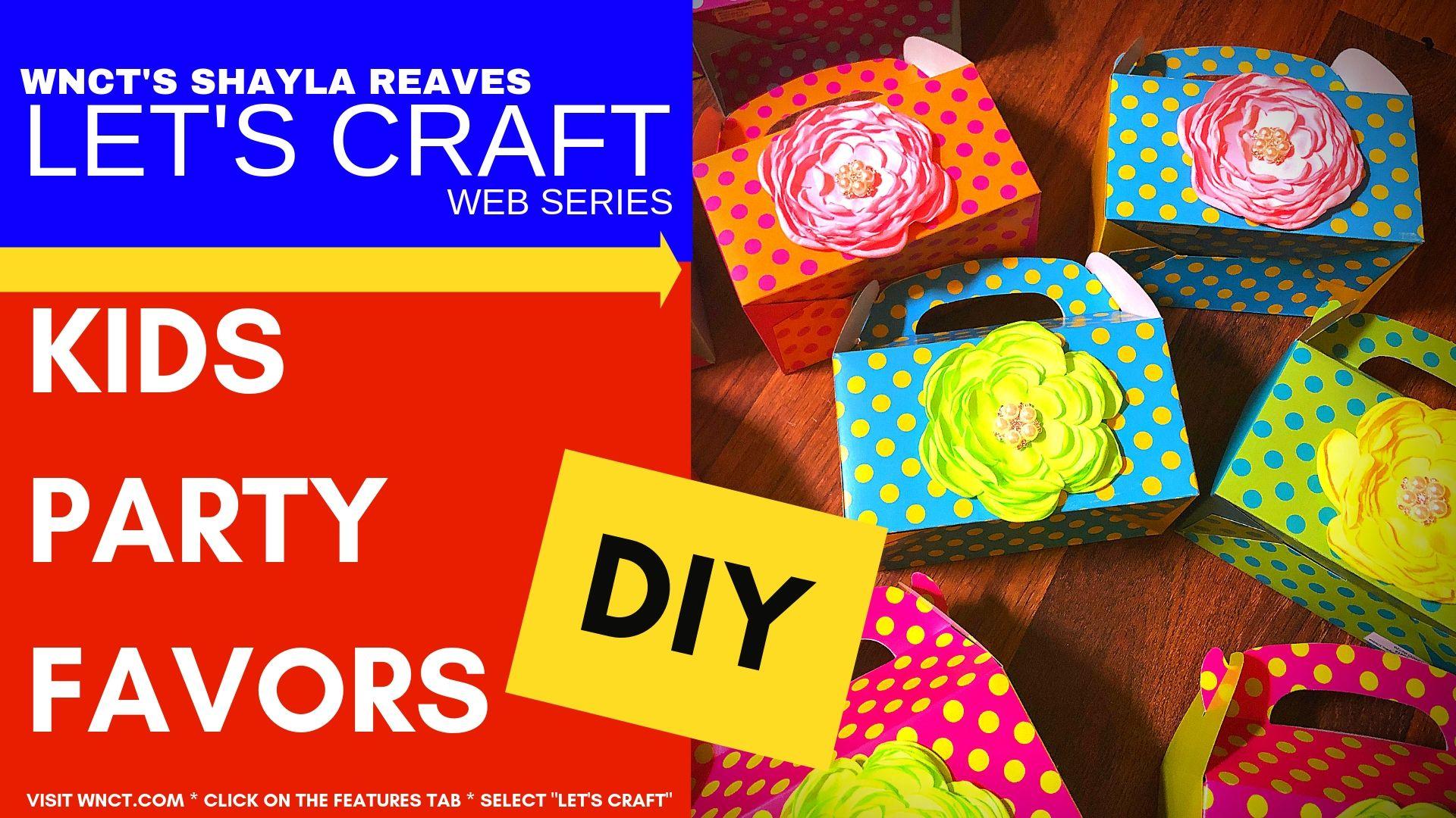 Lets Craft DIY Kids Party Favors
