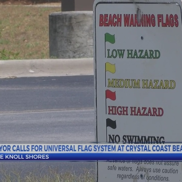 Mayor calls for universal flag system at Crystal Coast beaches