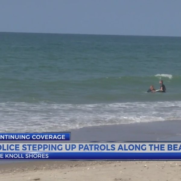 Police stepping up patrols along the beach