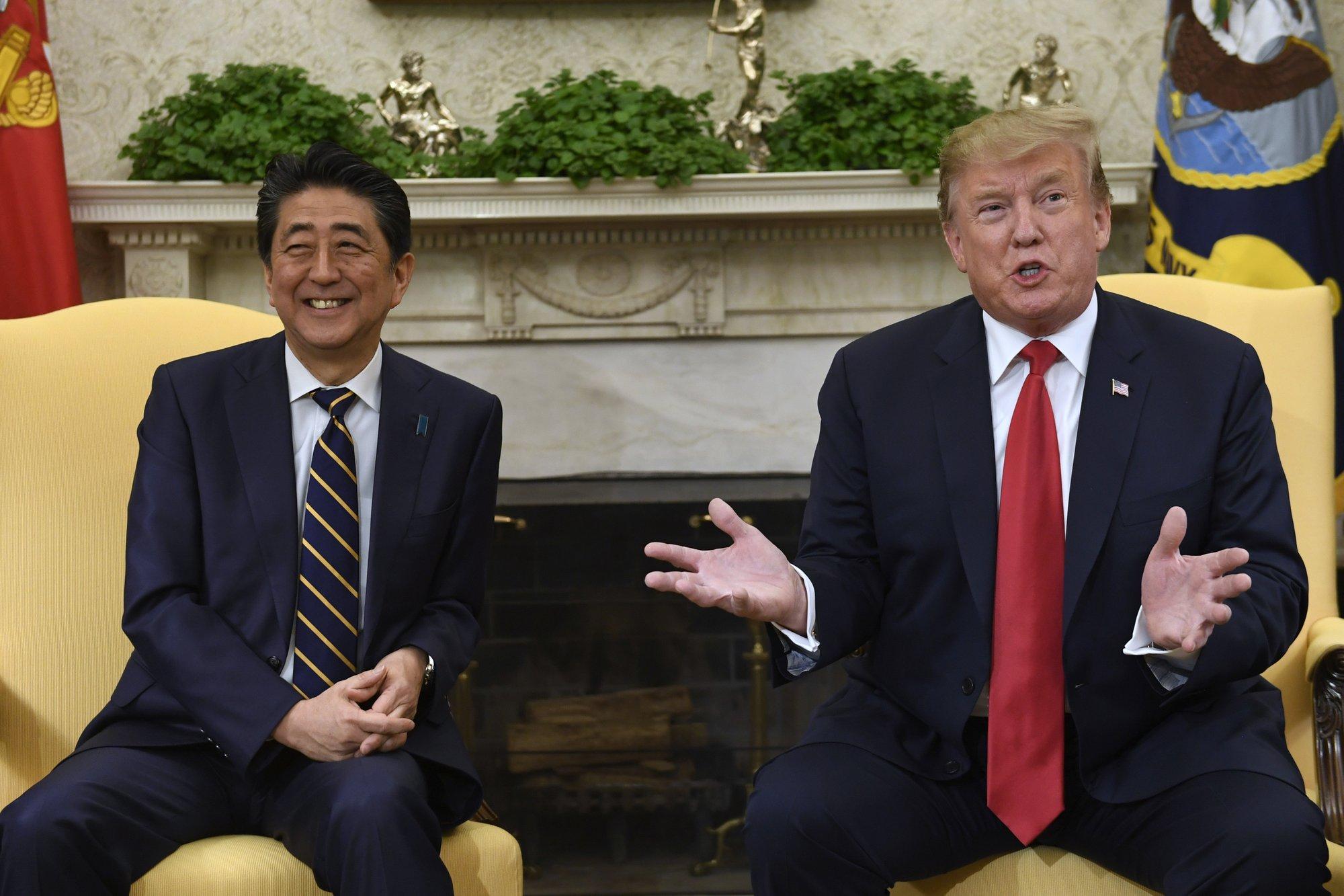 President Trump and Shinzo Abe