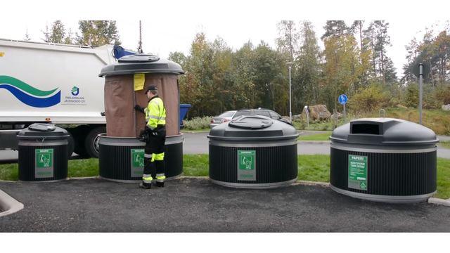 Molok Underground Trash Collection System