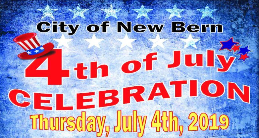 2019 New Bern July 4th Celebration Poster