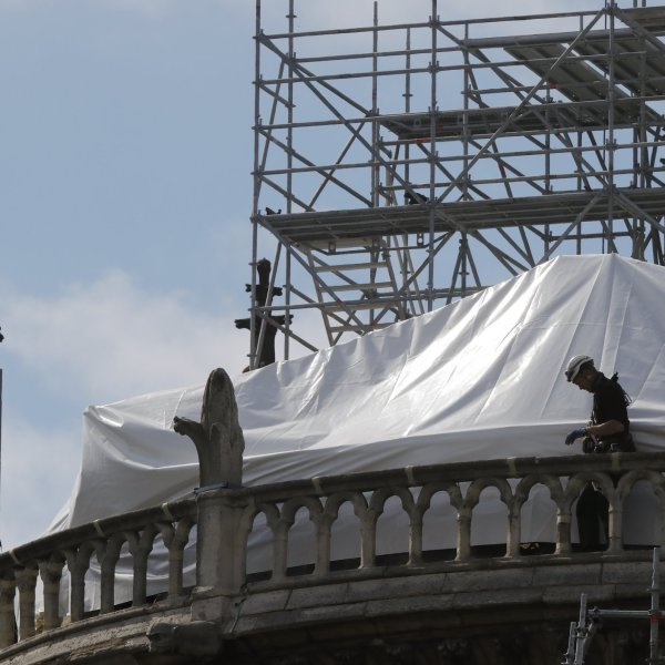 April 2019 Notre Dame Cathedral Restoration