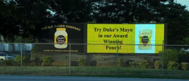 Duke's Mayonaise Factory Sign