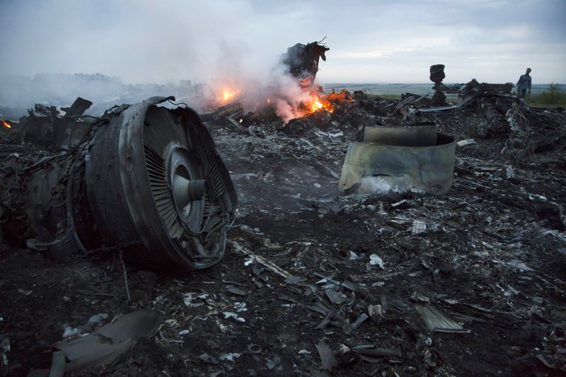 MA Flight 17 Crash Scene 1