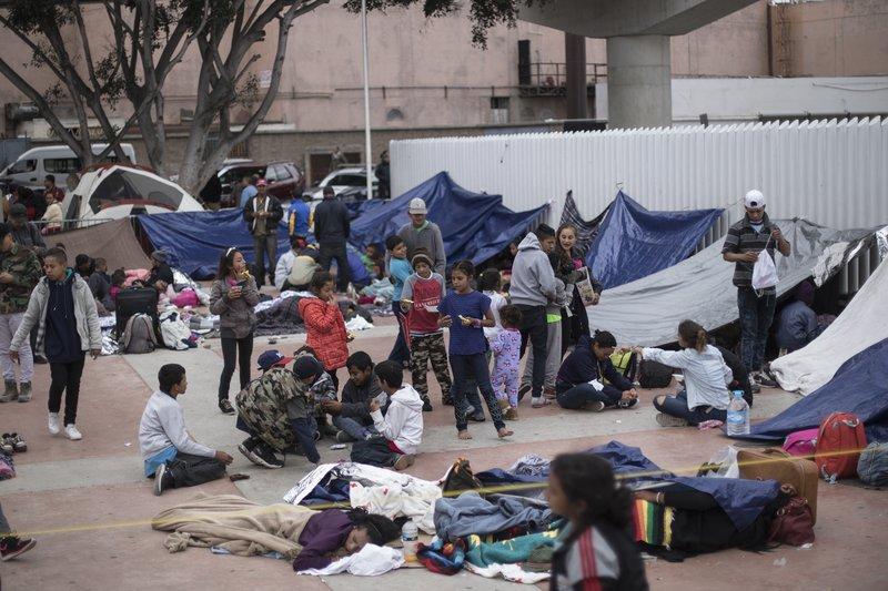 Migrants Seek Asylum at U.S. Mexico Border