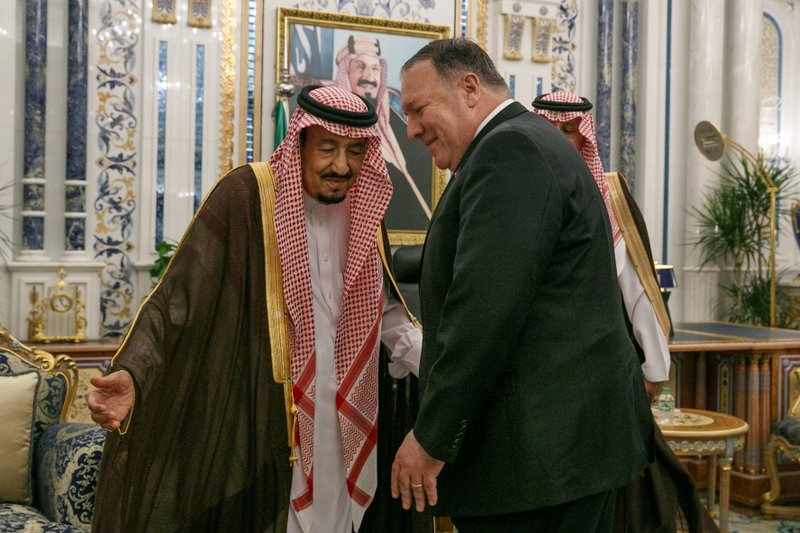 Mike Pompeo with King Salman