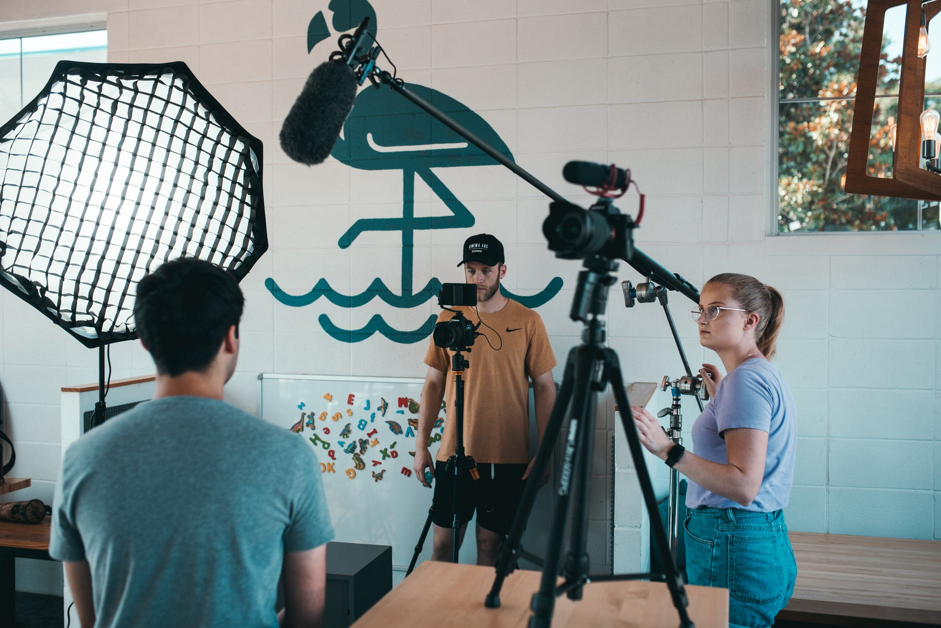People Filming Scene