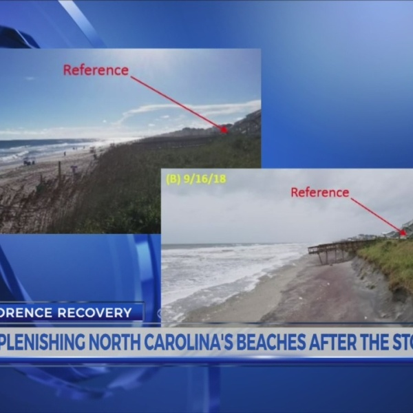 Replenishing North Carolina's beaches after the storm