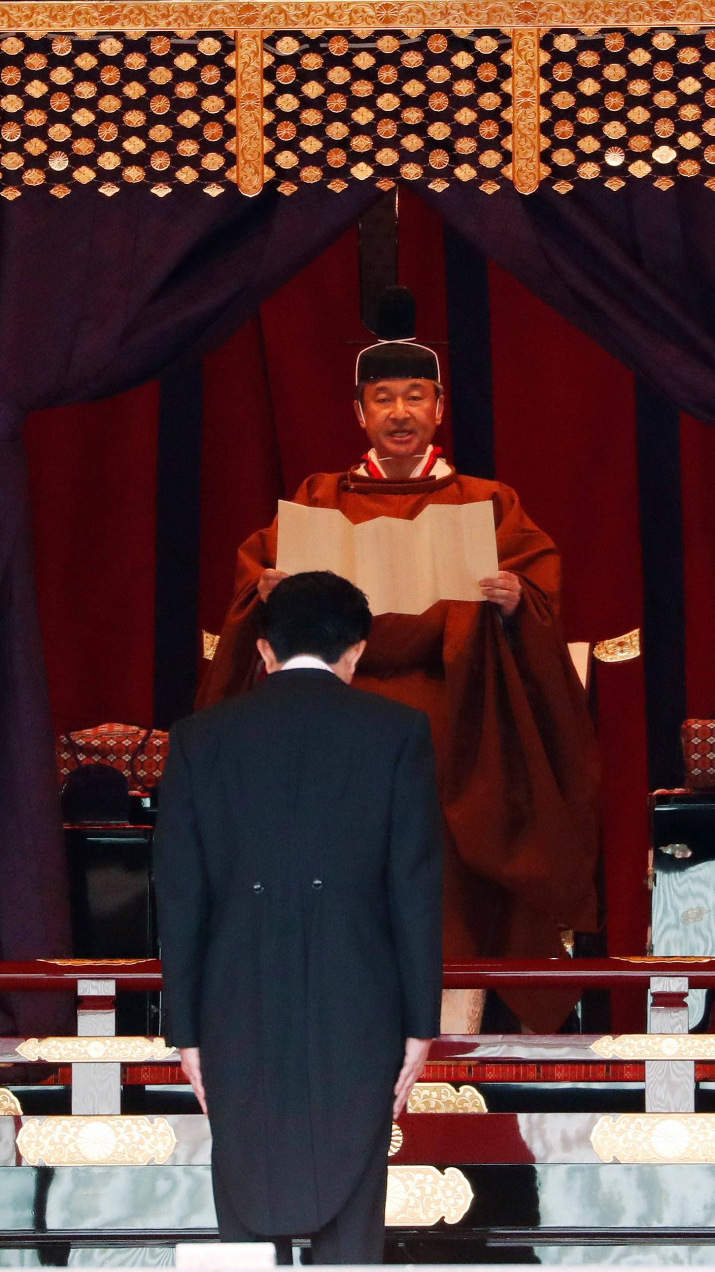 Emperor Naruhito, Shinzo Abe