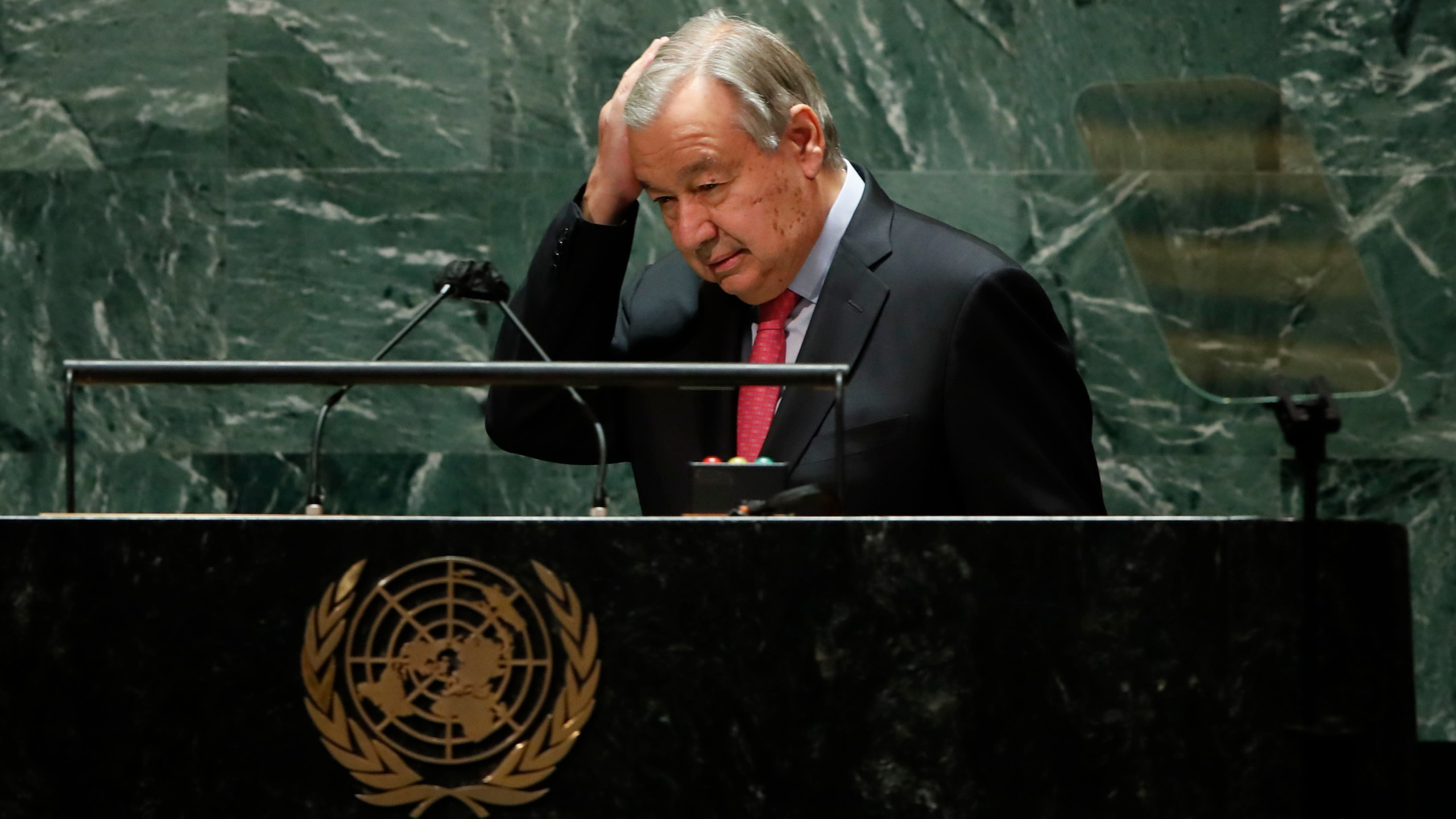 United Nations Secretary-General Antonio Guterres addresses the 76th Session of the U.N. General Assembly in New York City