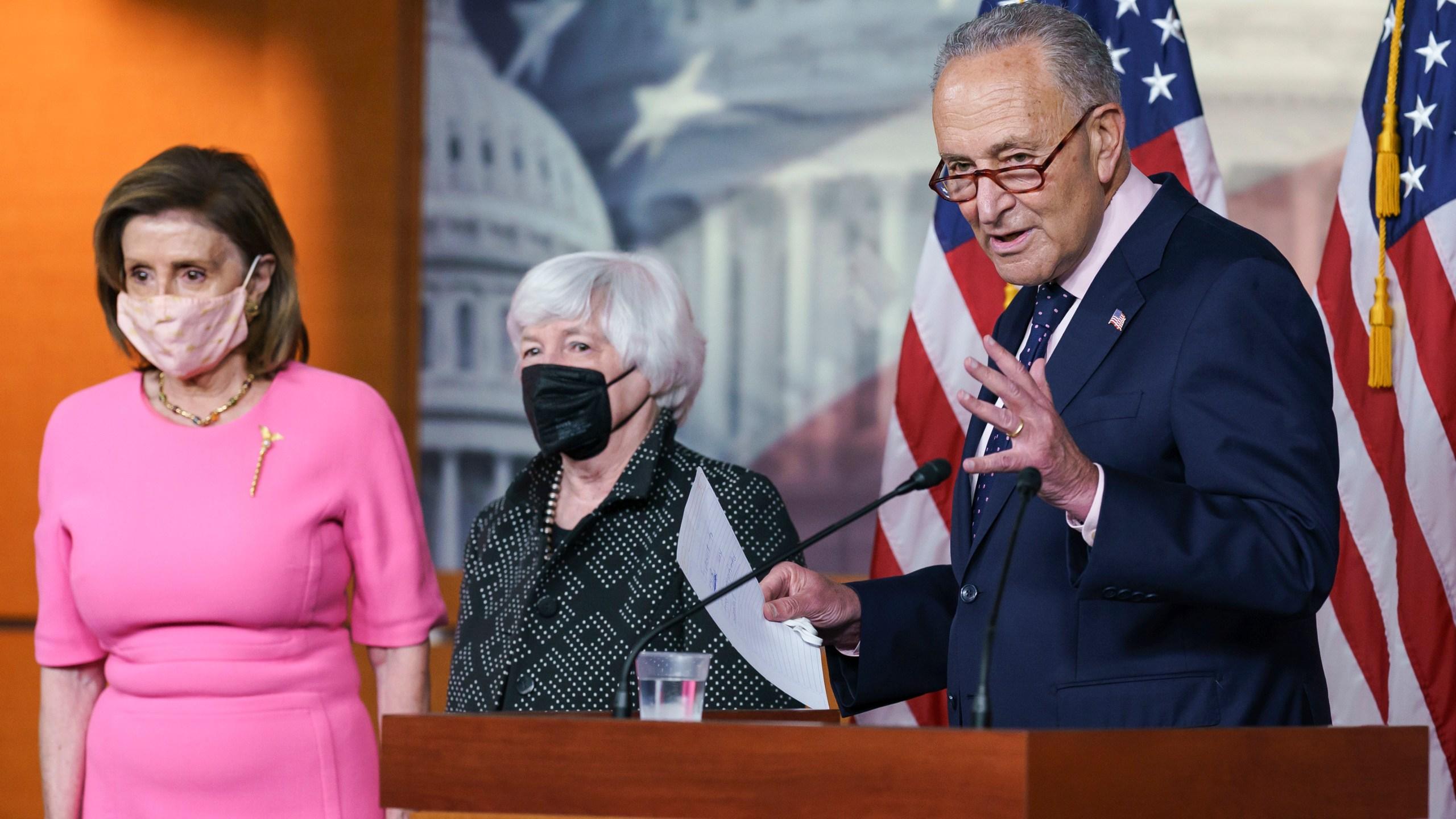 Nancy Pelosi, Chuck Schumer, Janet Yellen